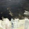 Schwarzer Horizont, 2016, Öl und Acryl/Lw. 60x80cm