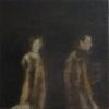 Paar, 2016, Öl/Lw.40x40cm