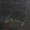 Katze auf dem Dach, 2016, Öl/Lw., 40x40cm